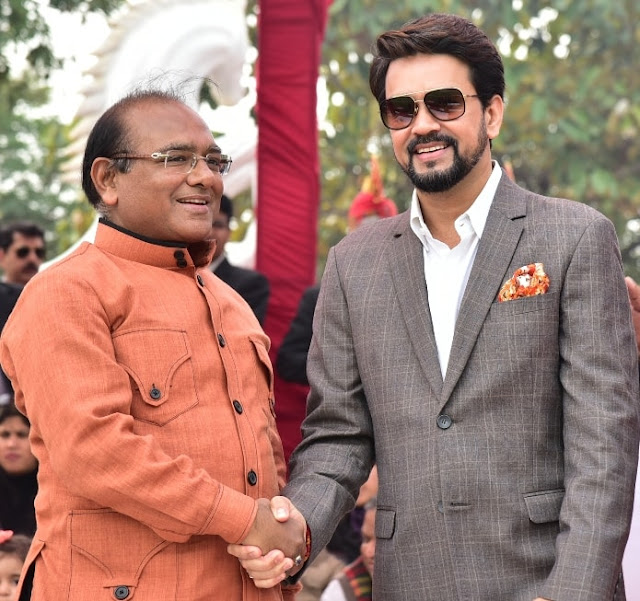 Mr. Mukesh Gupta (Chairman Tourism Committee of PHD Chamber) with Mr. Anurag Thakur