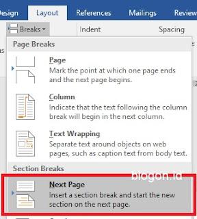 Orietasi halaman berbeda dalam satu file pada ms Word