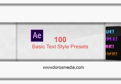 اضافات افترافكت بريسيت لتحريك النصوص بأنماط احترافي في برنامج الافترافكت after effects preset