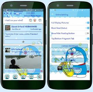 Download BBM Tema Doraemon Lucu