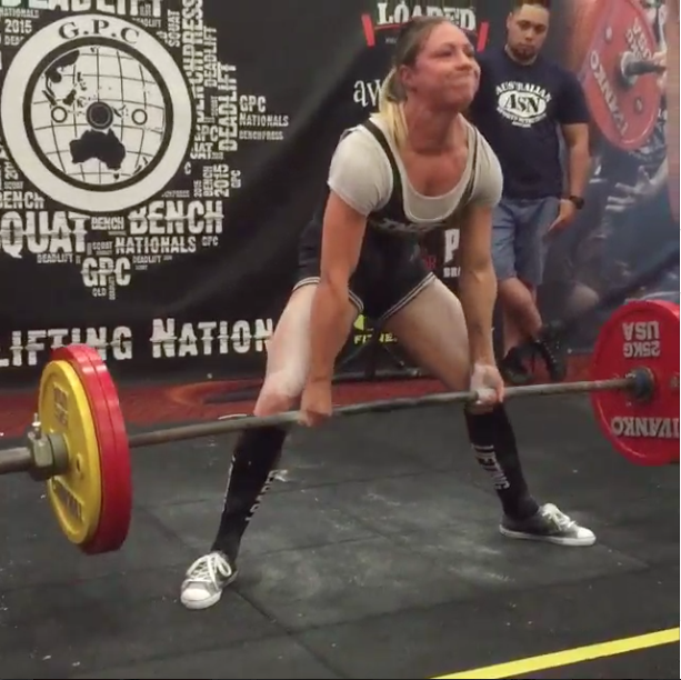 bf49eb19da Kristy also had a great day with 100kg, 105kg and a very close attempt with  her squat to finish with a 15kg meet PR, 50kg and 55kg for her bench press  ...