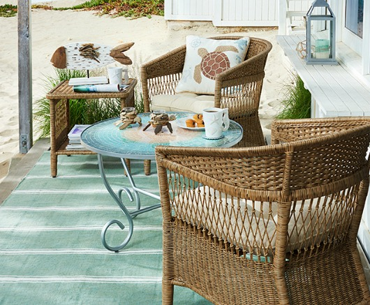 Outdoor Coastal Beach Decor For The Summer Furniture Rugs Pillows Amp Adorable Accents