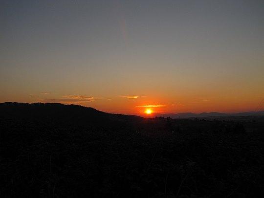 Zachód słońca z Kordowca.