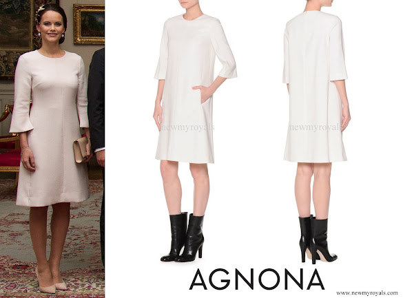 Princess Sofia wore Agnona Bell Sleeve Shift Dress