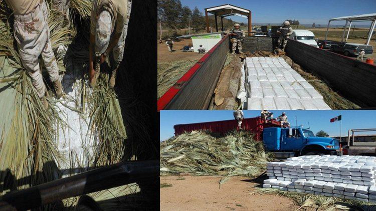Con ayuda de perro entrenado, soldados incautan 2 toneladas de droga