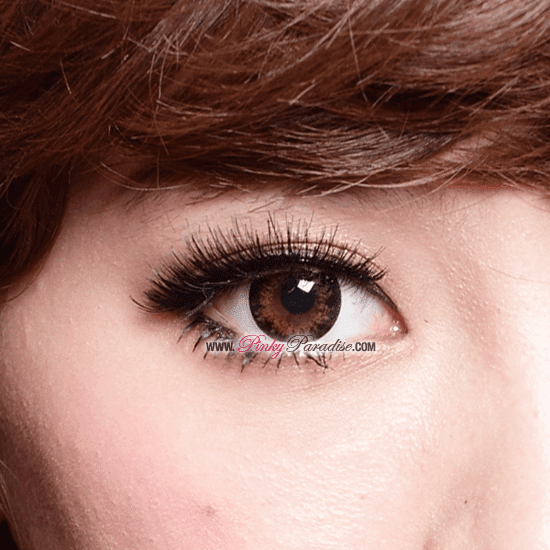 G&G Angel Ex Brown Circle Lenses (Colored Contacts) Close-up