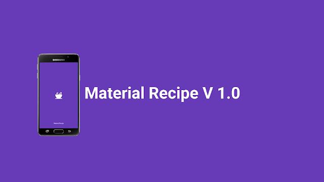 Download Material Recipe V.1.0 Full Source
