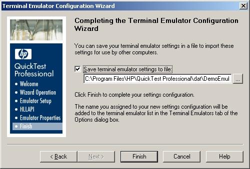 QTP Terminal Emulator(TE) Add-In Configuration For