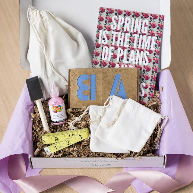 WhimseyBox lavender sachet kit