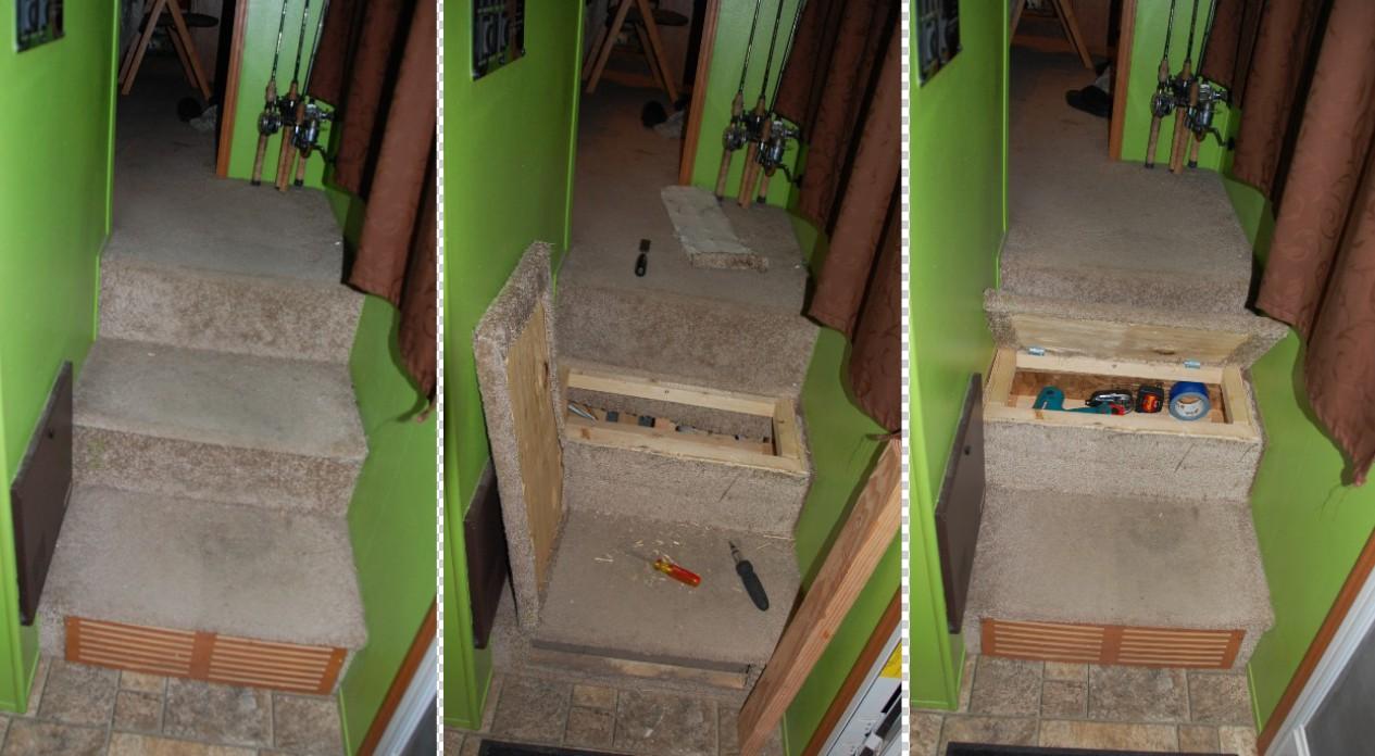 RV stair storage