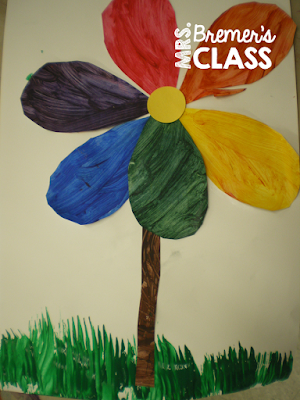 Color Wheel Spring Art Lesson for Kindergarten, introducing primary and secondary colors. Ideas and craftivities for hands on learning. #kindergarten #kindergartenart #art