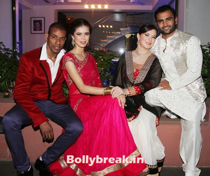 Harisson James, Sucheta Sharma, Urvashi Sharma, Sachiin Joshi, Sachiin Joshi and Urvashi Sharma's Diwali Party