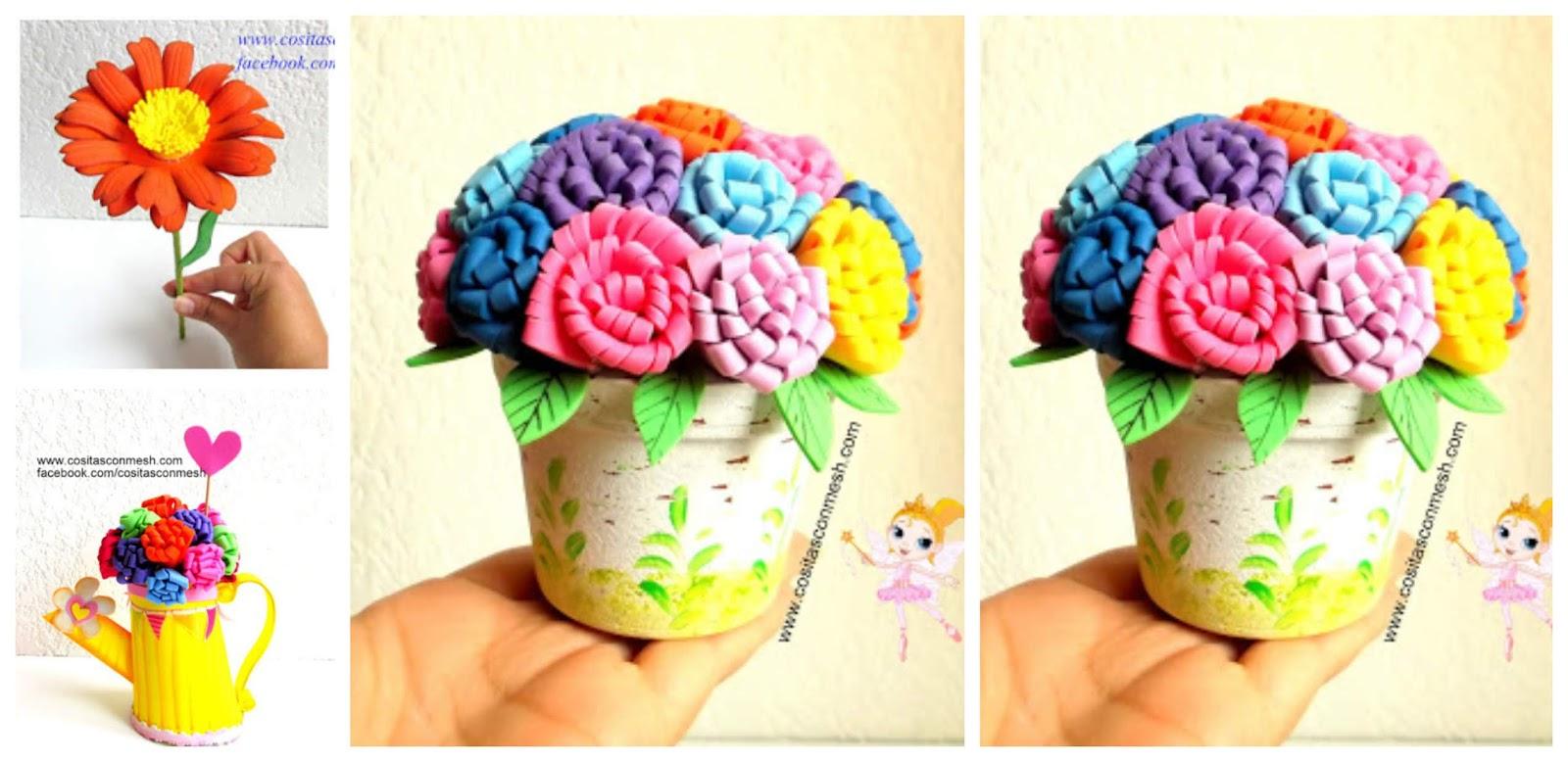 Manualidades Flores De Fomi Cositasconmesh