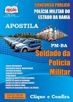 Apostila concurso PM/BA 2016, Soldado Polícia Militar da Bahia CFSd.