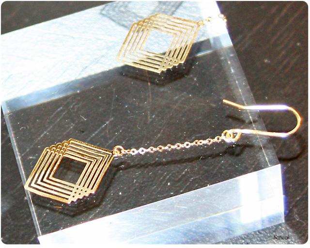 boucle d'oreille Art déco du Manège à Bijoux de E.Leclerc