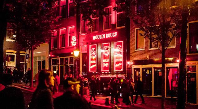 Red Light District em Amsterdã em Julho