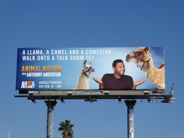 Animal Nation Anthony Anderson billboard
