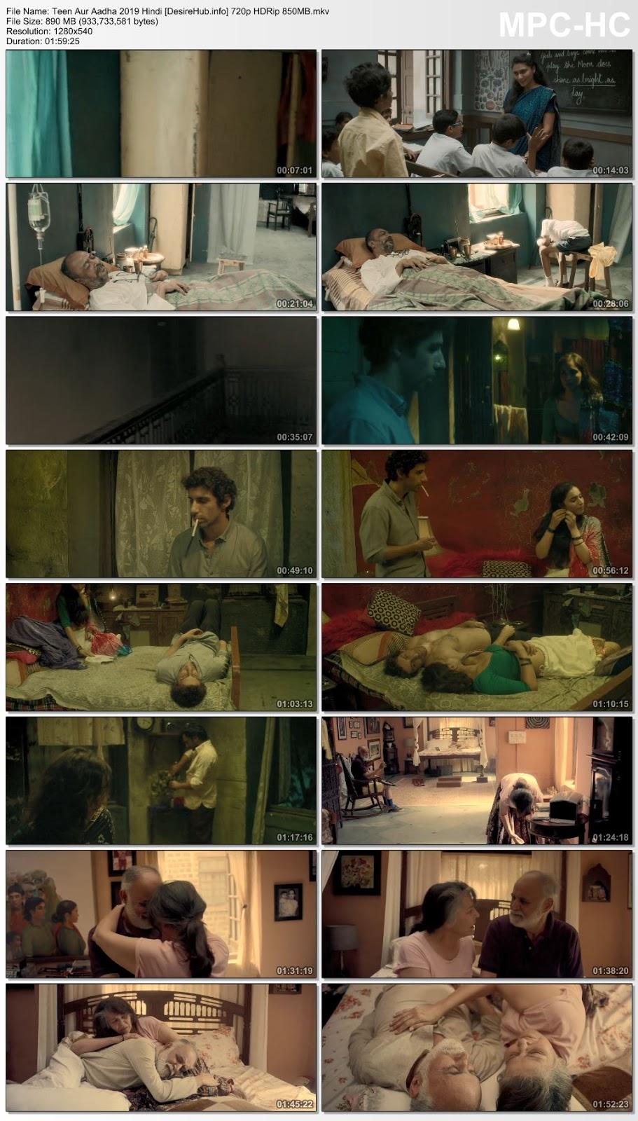 Teen Aur Aadha 2019 Hindi 480p HDRip 350MB Desirehub