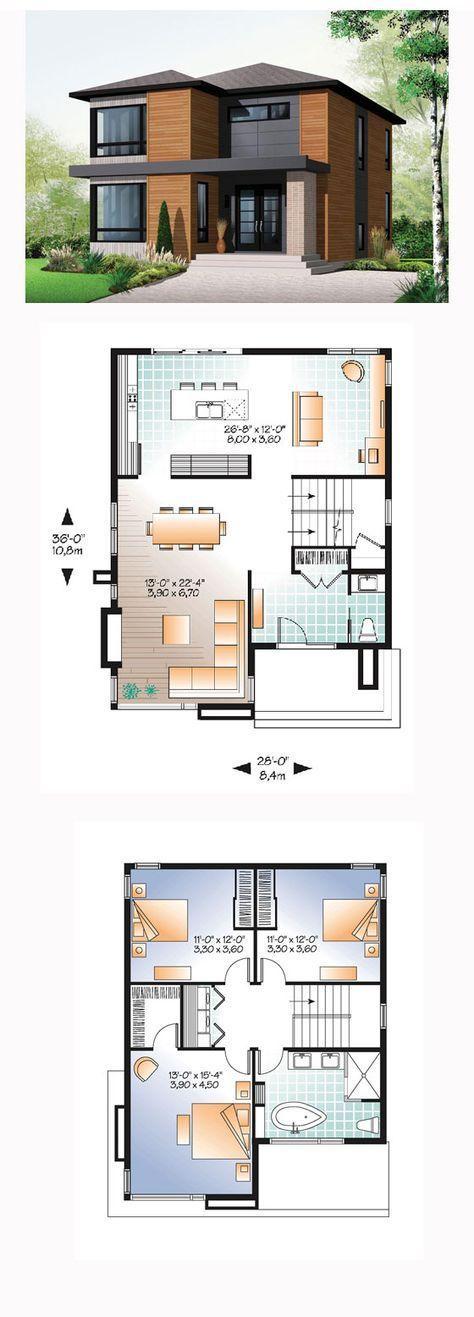 แบบบ้านสองชั้น 3 ห้องนอน 2 ห้องน้ํา