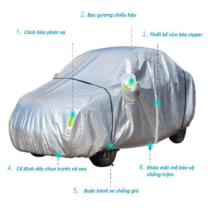 Bạt phủ xe ô tô 3 lớp