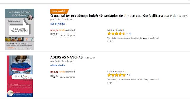 Livro de cardápios de almoço como 'mais vendido' da Amazon