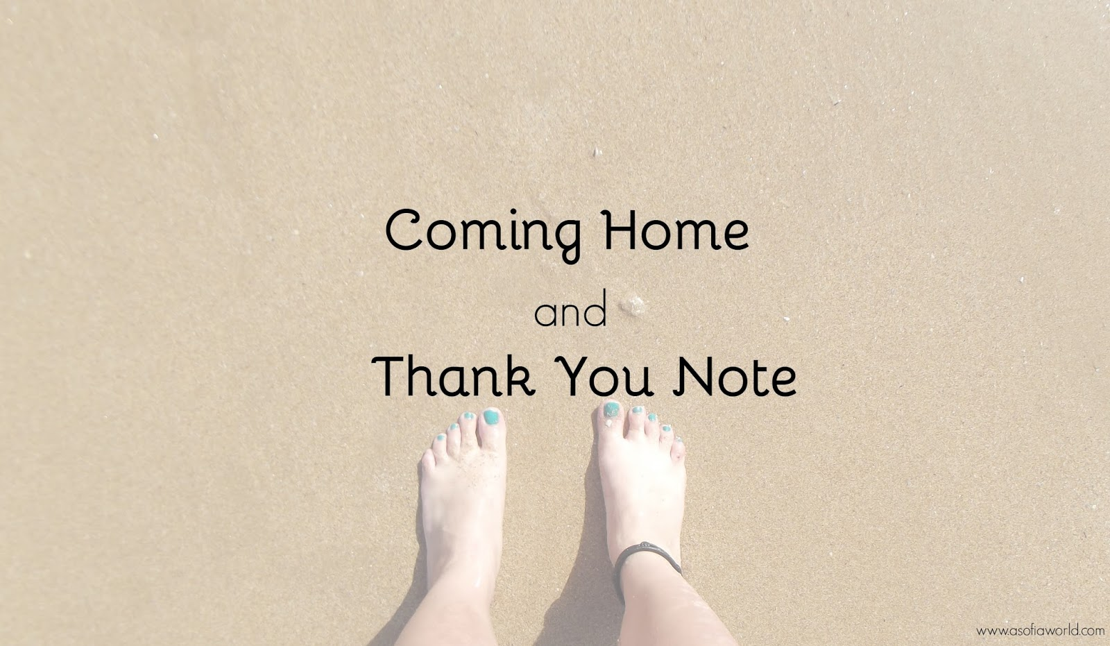 Barefeet and a thank you note