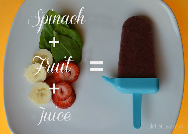 Fruit Smoothie Popsicles - A Little Tipsy