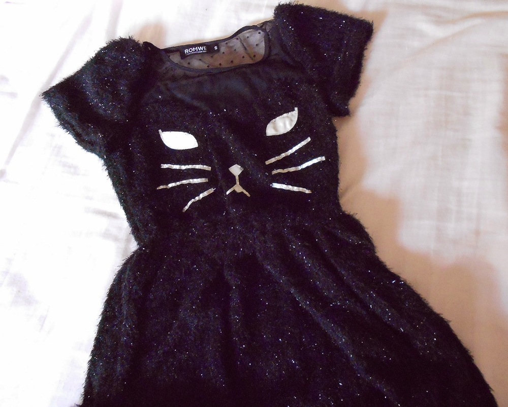 new in my closet | cat dress from romwe