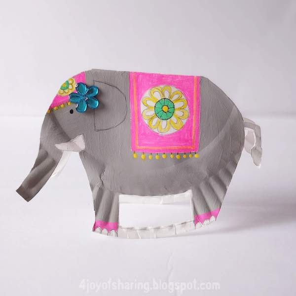 Paper Plate Rocking Elephant Craft For Kids The Joy Of Sharing