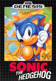Portada juego Sonic the Hedgehog para Sega Genesis