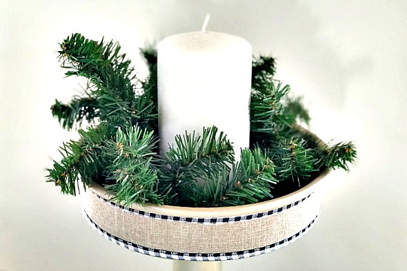DIY Repurposed Holiday Candle Display