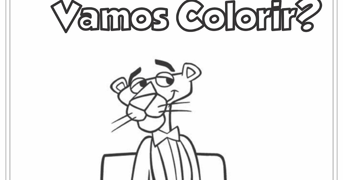 A Turma Da Pantera Cor-de-rosa Desenho Para Colorir