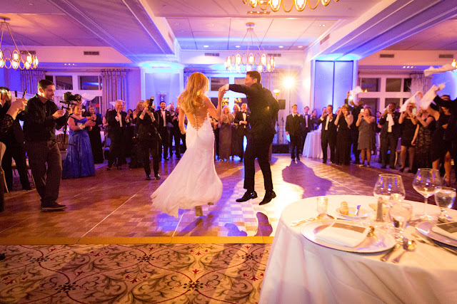 Jenna and Chad's first dance at their Willow Ridge Country Club Wedding | Karen Hill Photography