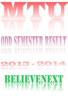 MTU ODD Semester Result 2013-14