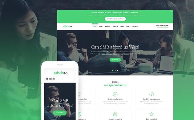 Best Financial Business Website Theme