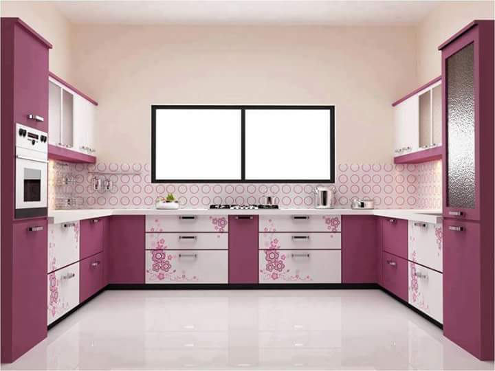 Simple Jer Kan Tak Crowded Sangat Kawasan Dapur Pun Luas Je Nampak Warna Cun Kean Cik Rose Ni