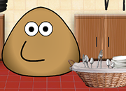 Pou Washing Dishes juego