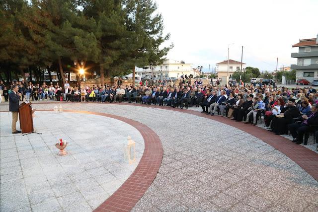 Με μεγάλη συμμετοχή πολιτών η εκδήλωση Μνήμης Γενοκτονίας στη Χρυσούπολη