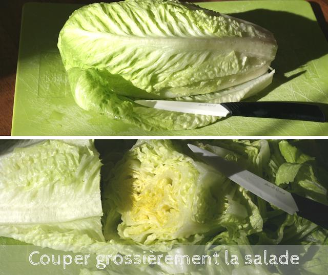 découpe salade romaine recette vegan