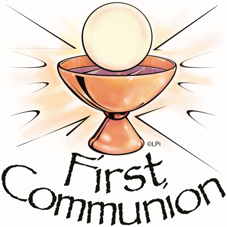Catholic Sacrament Coloring Pages - First Communion | 768x766