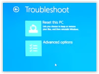 Windows recovery troubleshoot