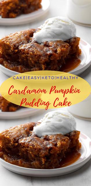 Cardamom Pumpkin Pudding Cake