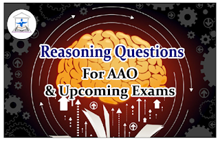 Reasoning Questions (Sitting Arrangement) for AAO and upcoming Exams 2016