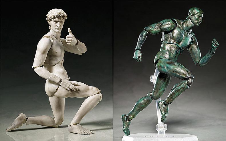 Figuras de acción de esculturas clásicas trae a