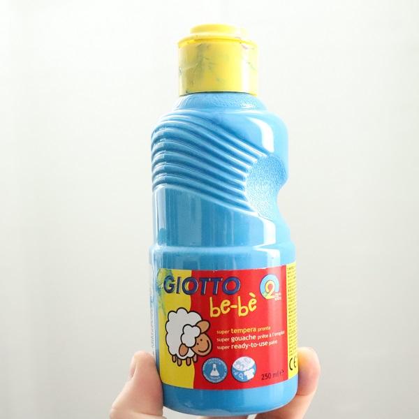 gouache giotto bébé bleu