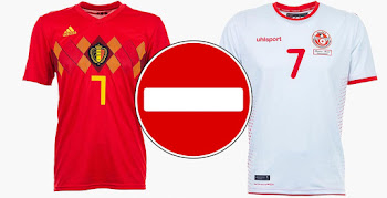 NOT Understandable - FIFA Forces Belgium   Tunisia to Use Away Kits in 2018  World Cup Clash 4d45057d7