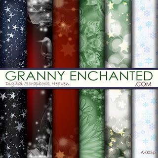 Free Digital Scrapbook Star and Christmas Backgrounds