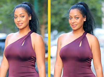 LaLa Anthony steps out looking every shade of gorgeous! (photos)