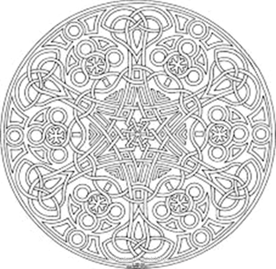 Schwierige Mandalas (für Erwachsene) - Free Mandala