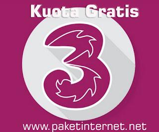 Tutorial untuk mendapatkan kuota gratis kartu tri di semua jaringan baik 3G maupun 4G